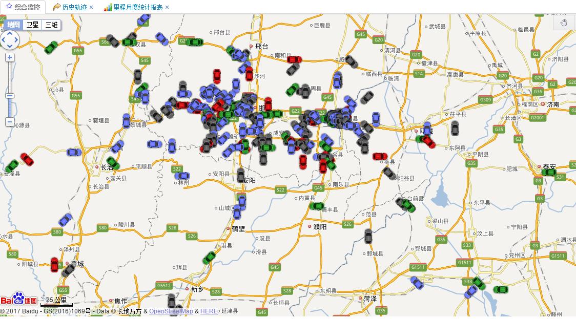 海量车辆位置在百度地图上显示